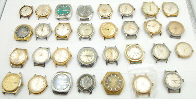 Lot Of (31) Vintage Automatic Self Winding Gents Wrist Watches Misc. Makers Nr.