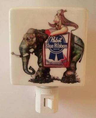 Charming Pabst Blue Ribbon Beer Porcelain Night Light # 3