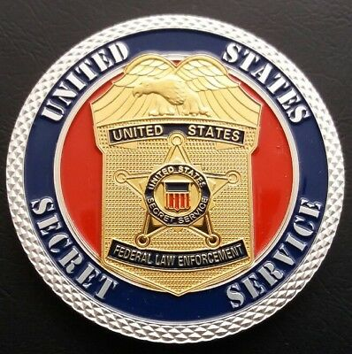 United States SECRET SERVICE Homeland Security Challenge Coin FREE COIN STAND