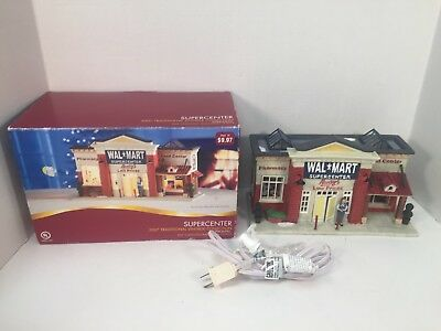 walmart supercenter store christmas village 2007 holiday time lighted building