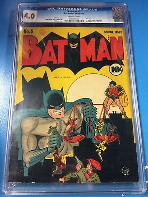 Batman #5 1941 CGC 4.0 Off-White Pages 1st Linda Page