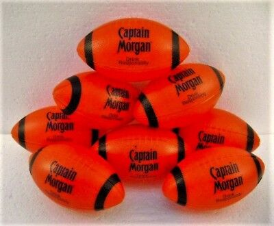Captain Morgan Football Mini Red & Black Lot of 8 New Old Stock
