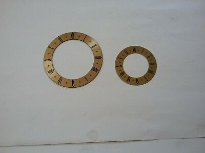 Two Brand New Solid Brass Decorative Clock Chapter Rings With Roman Numerals.