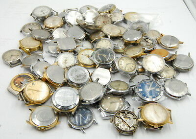 Lot Of (68) Vintage Mechanical Hand Wind Gents Wrist Watches Misc. Makers No Res