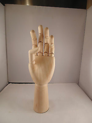 "12"" (300mm) ARTISTS WOODEN LEFT HAND MANIKIN MANNEQUIN - RRP £29.99"