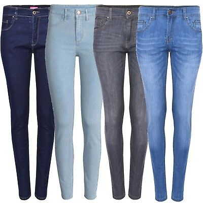 Ladies Slimfit Jeans Girls Skinny Jeggings Women Stretch Denim Cotton Pants