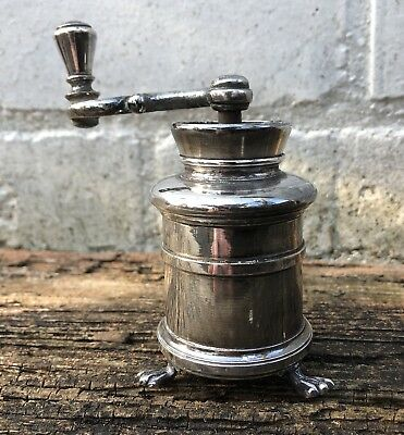 19th Century French Christofle Silver Plated Pepper Spice Grinder Cellar Rare