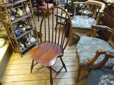 Antique American Bow Back Windsor Side Chair