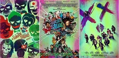 All 3 Styles SUICIDE SQUAD MOVIE POSTER ALL 3 Double Sided Originals 27x40 MINT!