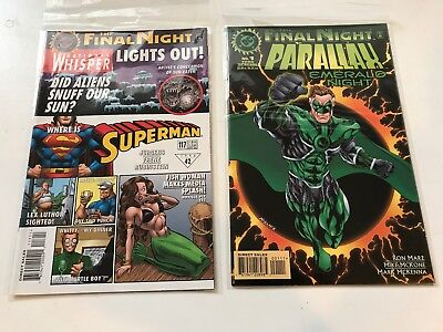 lot 6 THE FINAL NIGHT full set +  Parallax special and Superman 117 1998 VF/NM