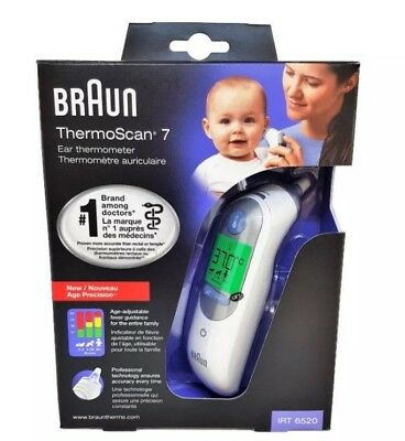 Braun ThermoScan 7 IRT6520 Ear Thermometer BABY/ADULT FREE DELIVERY