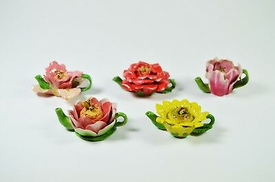 Tiny decorative miniature teapot~ASSORTED FLOWER TEAPOT~YELLOW ROSE-LOTUS