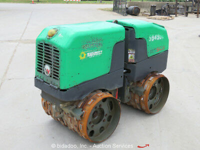 2014 Wacker RTX-SC2 Walk Behind Trench Roller Compactor Remote Extendable Drums