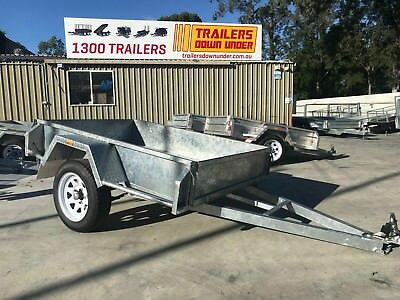 6x4 GALVANISED BOX TRAILER | CHECKERPLATE FLOOR | 750kg GVM | HOT DIP GALVANIZED