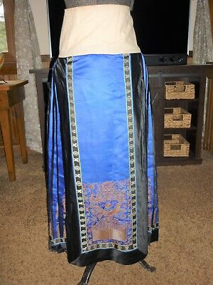 Antique Silk & Embroidered Ceremonial Wrap Skirt - NR