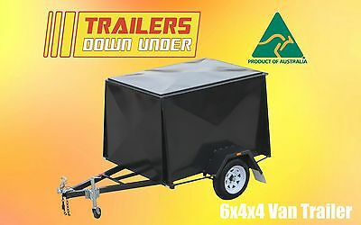 6x4 Heavy Duty Single Axle Van Trailer Fully Enclosed Van trailer
