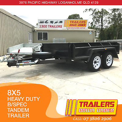 8x5 Heavy Duty Duel Axle Trailer - Budget Special Trailer - New Wheels and Tyres