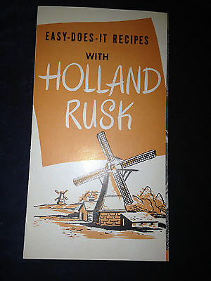 National Biscuit Company Uneeda Bakers Holland Rusk recipe booklet~pamphlet