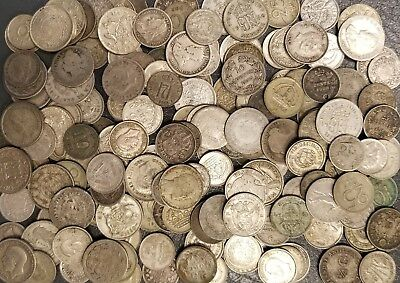 Lot of 167 Small World Silver Coins ~ Over 10 Troy Ounces, Nice Mix of Countries