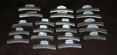 Vintage Lot of 20 Aluminum Hair Wave Clip Curlers Tip Top Goody Solo