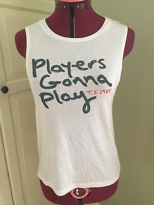 Official Ladies Taylor Swift Players Gonna Play 1984 muscle tee Size M BNWOT