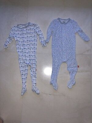 Magnetic Me Baby Boy Pajama Footies, 2-piece Set, Size 9-12 Months
