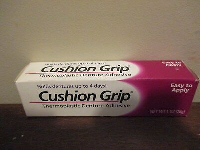 Cushion Grip denture adhesive, 1 oz