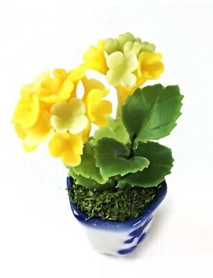 Dollhouse Miniature White Daffodil Flower In Pot 1:12 Scale 4cm US Seller