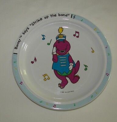 Vintage 1992 BARNEY PLATE FOR CHILD BY THE LYONS GROUP