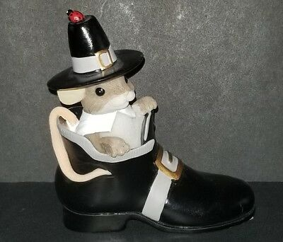 """Charming Tails """"A THANKFUL SOLE"""" Thanksgiving EXCELLENT CONDITION 2010 RARE"""