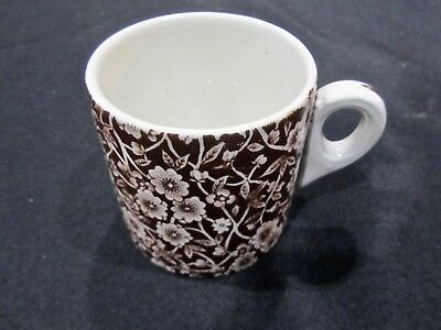 VTG Crownford China Staffordshire England Brown Calico Mug Chintz Last One!