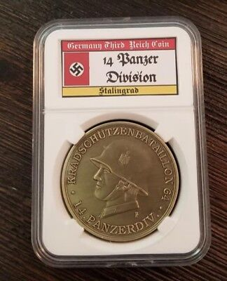 WWII WW2 German Military Slabbed Cased Coin