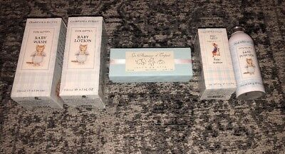 Crabtree & Evelyn Tom Kitten Baby Bundle (Lotion, Soap, Baby Wash, Powder)