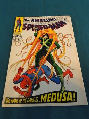 Marvel Comics Group Amazing Spider-Man #62- Medusa!  - Another High Grade Copy!