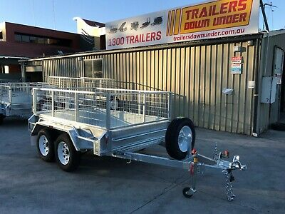 8x5 Galvanised Tandem Heavy Duty | Full Welded| 600mm Galvanized Cage - Brisbane
