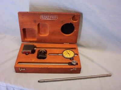 STARRETT No.25-B Dial Indicator Set and Box, with extra, Very nice!