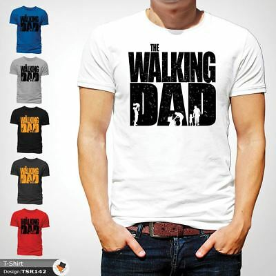 The Walking Dad Funny Mens T Shirt Fathers Day Dead Zombie Gift Birthday White 1