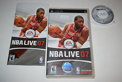 NBA Live 2007 Sony Playstation PSP Video Game Complete