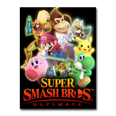 Super Smash Bros Ultimate Game Art Silk Canvas Poster 13x18 24x32 inch