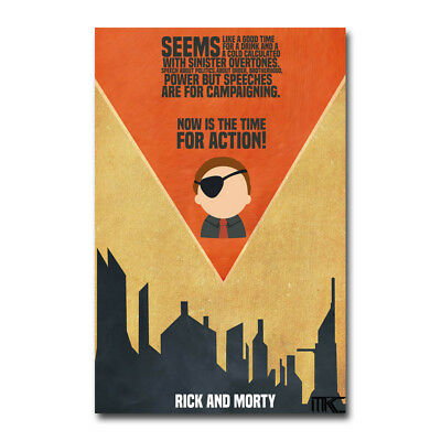 Rick and Morty TV Show Art Silk Poster 12x18 inch