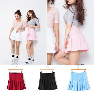 Women Girls High Waist Sports Tennis Skirts Dress Fitness Gym Summer Hot Sale