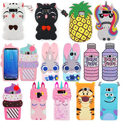 3D Cute Cartoon Cpvers Cases For Samsung Galaxy S6 S7 S8 S9 Plus Note9 J3 J5 J7P