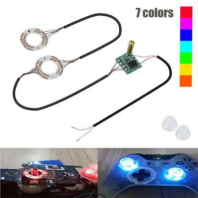 LED Light Thumb Sticks Mod + Clear Thumbstick Caps for PS4 Xbox One Controller