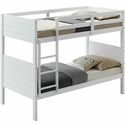 New White Frankie Pine Wood Bunk Bed Dodicci Bunk Beds 419 00