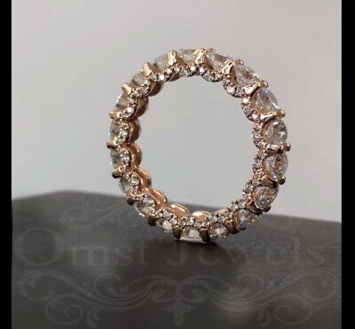 3.53Ct Round Gorgeous Moissanite Vintage Engagement Ring 14K Solid Rose Gold