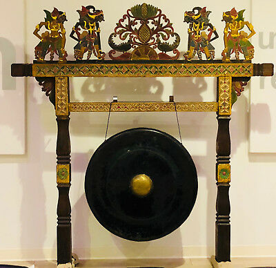 "Big Bali Temple Gong 35"" for Meditation Chakra Music Sound Healing Therapy Art"