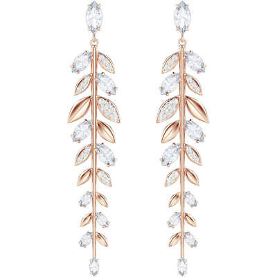 💕 NEW Swarovski Mayfly Pierced Earrings, White, Rose Gold Plating 💕