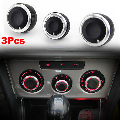 For AUDI A3 8P MK2 08-12 AC Heater Climate Control Switch Panel Button Knobs