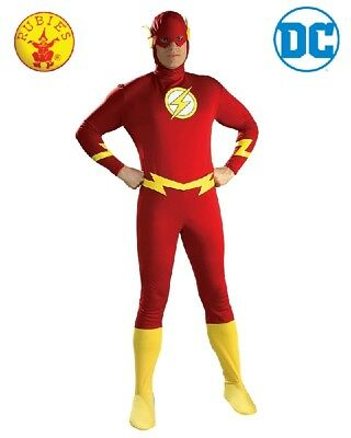 Mens Adult Justice League Super Hero DC Jumpsuit The Flash Costume