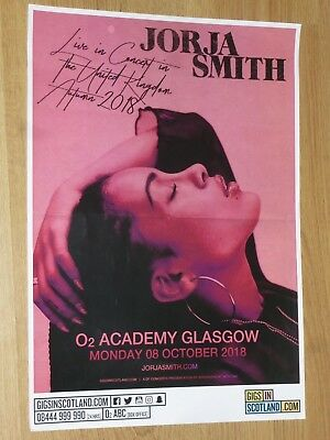 Jorja Smith - Glasgow oct.2018 tour concert gig poster